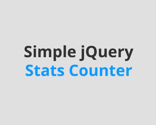 Simple jQuery Stats Counter