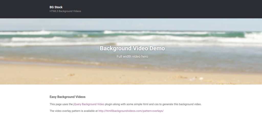 Fullscreen Responsive Background Video Html Css Js Techusable