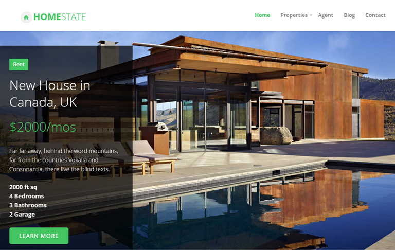 homestate free css templates estate techusable free download