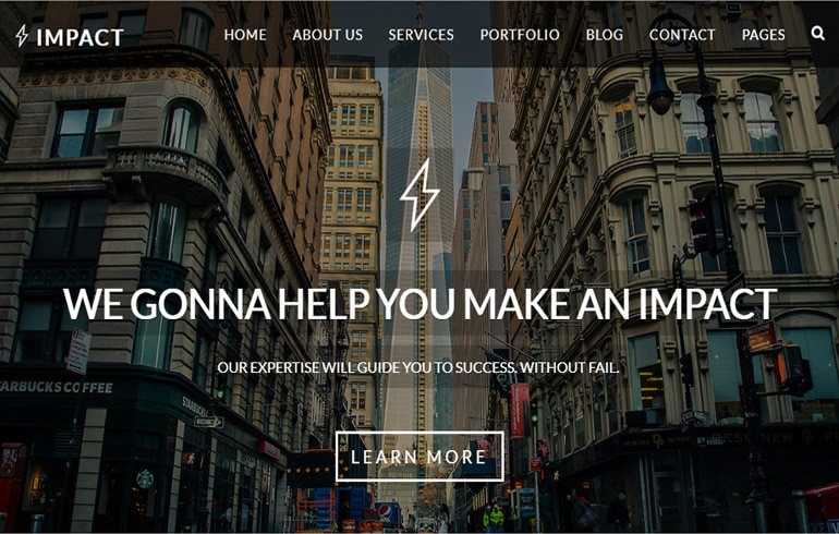 impact css template free template download techusable
