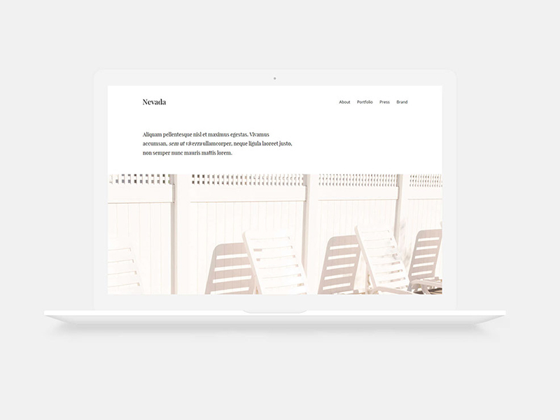Nevada free html bootstrap template download minimal single page