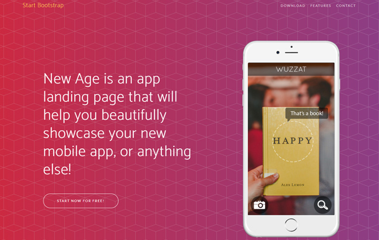 new age free template download techusable