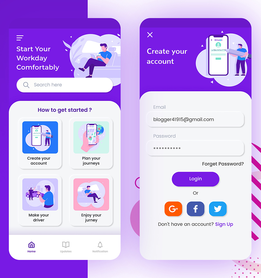 Free Chased Home UI Design