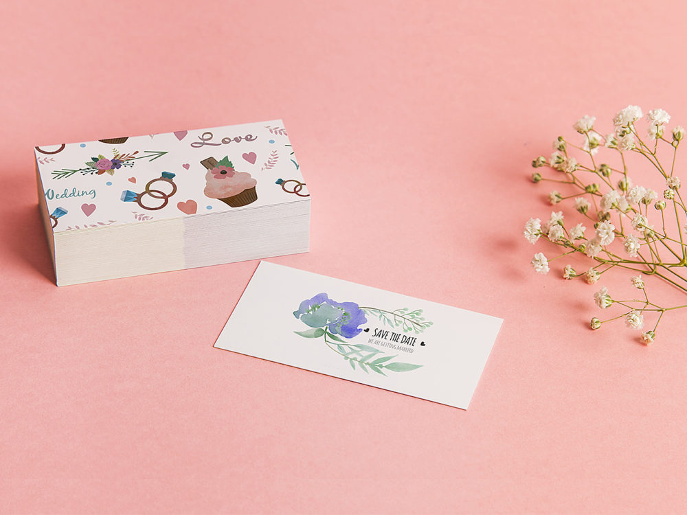 Free Business Card Mockup on Stack