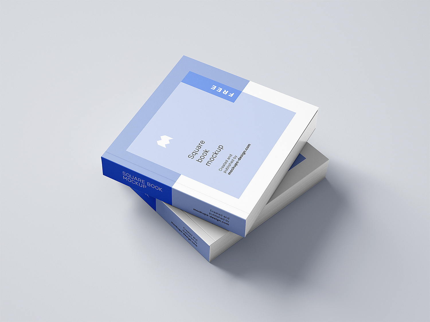 Free Softcover Square Book Mockup