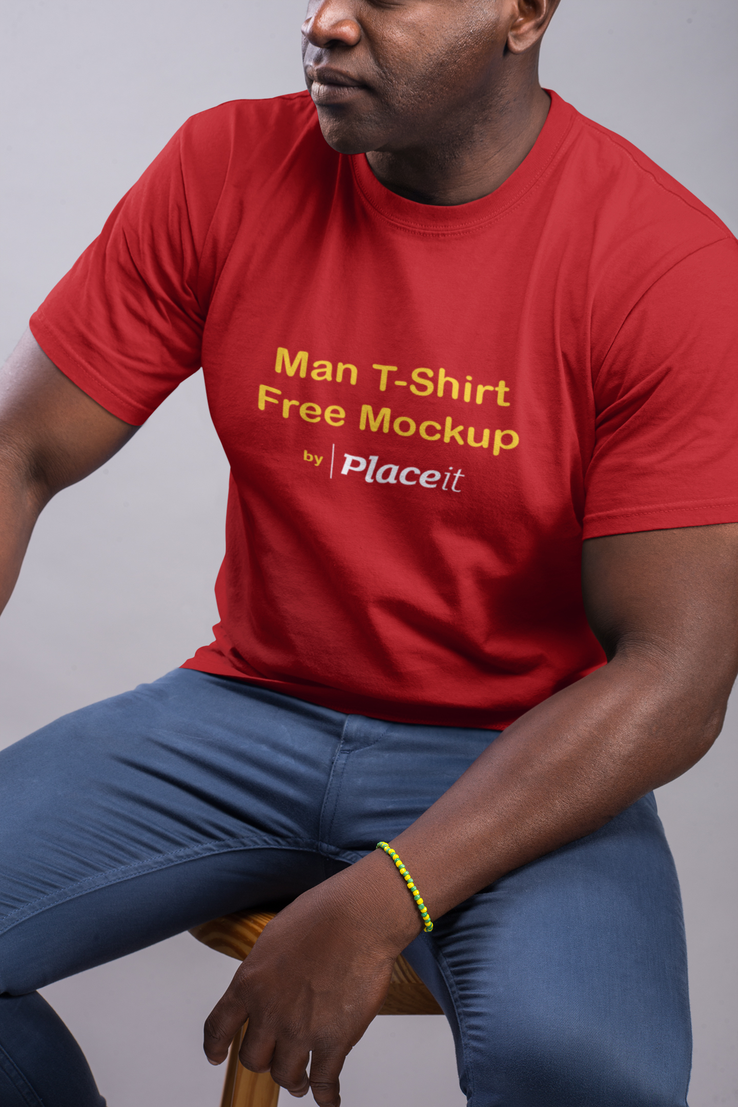Man T-Shirt Free Mockup by Placeit