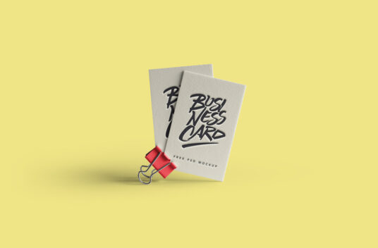 Business Cards on a Clip Mockup