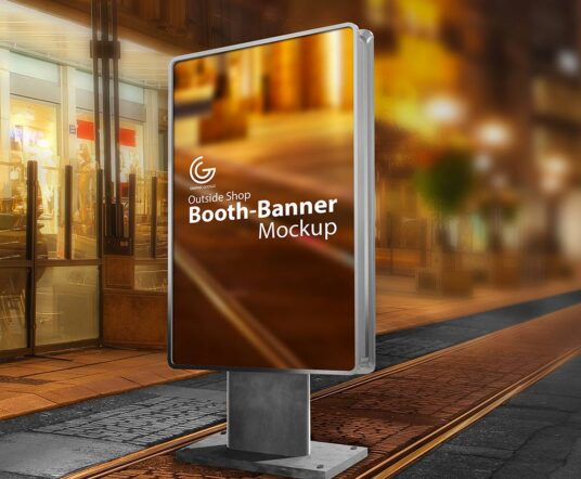 Outdoor Booth Banner Mockup