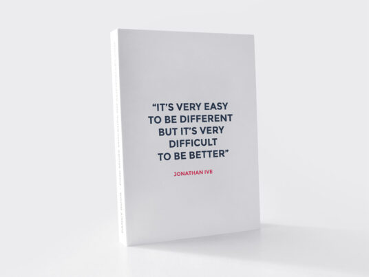 Standing Softcover Book Mockup